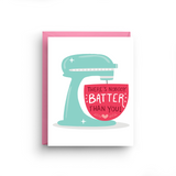 baking card, baking gifts, new home card, gifts for bakers, friendship card, i love you card, appreciation card, kitchenaid mixers, new kitchen card, kitchen card, valentine's day, electric stand mixer, card for mom
