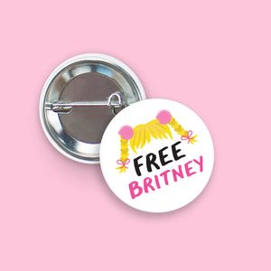 Free Britney -  Pin-Back Button