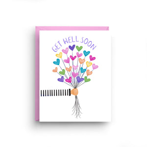 Get Well Soon Balloon Card