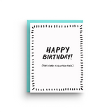Gluten Free Birthday Card