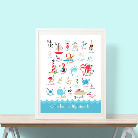 Nautical Alphabet Print