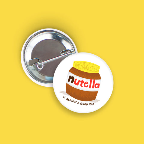 Nutella Pin-Back Button