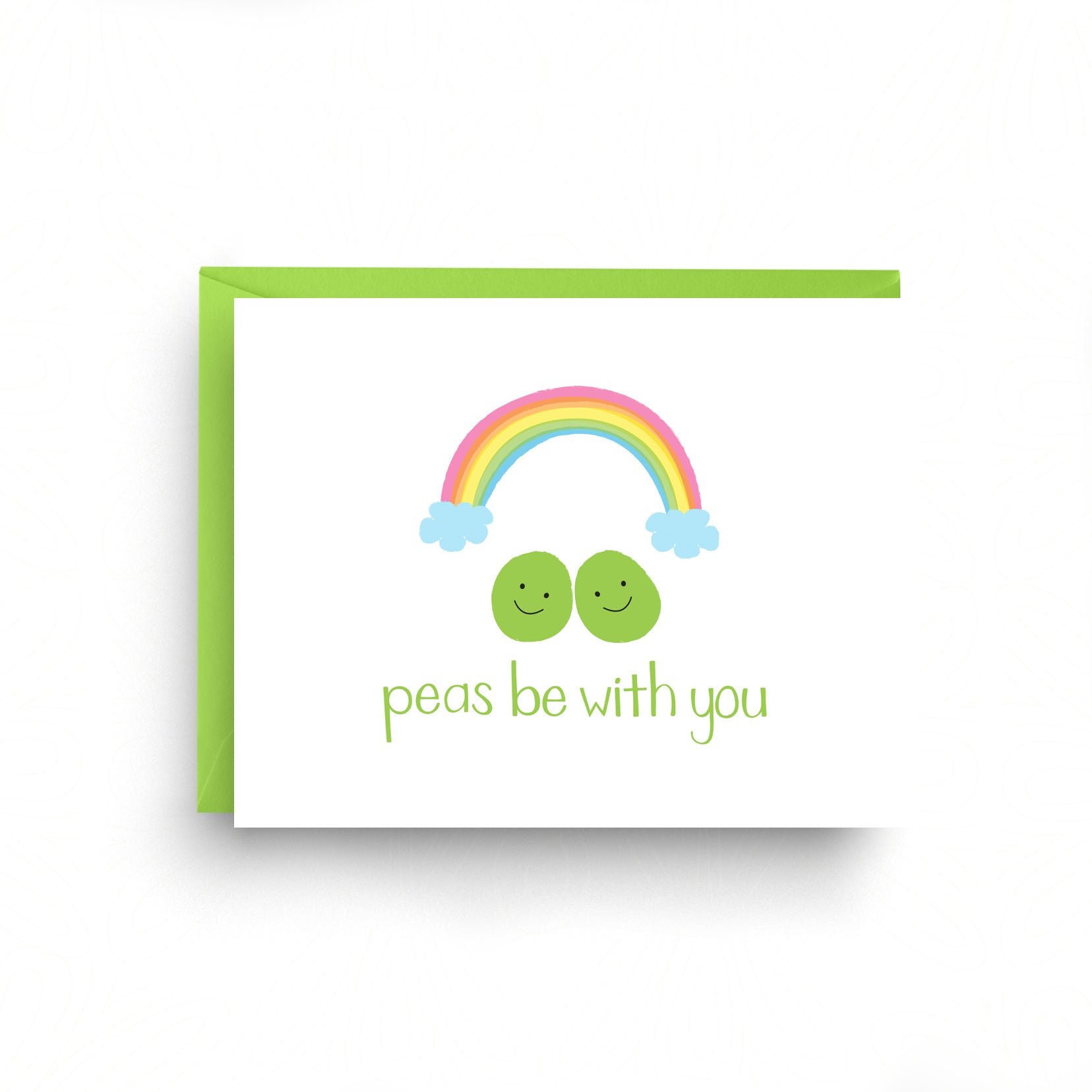 peas be with you, baby card, pun card, funny card, nicole marie paperie