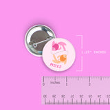 Pisces Pin-Back Zodiac Button