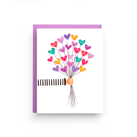 birthday card, balloon card, love card, encouragement card, boxed set, purple stationery, friendship card, it gets better card, thinking of you card, get well card, sympathy card, miss you card, Valentine's Day Card