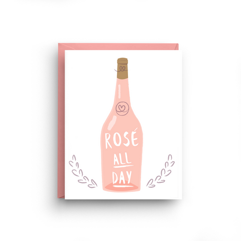 blank stationery, rose all day, rosé all day, funny birthday card, brunch card, bravo, summer house, whispering angel, stationery note card, wine card, sorority gift, card for girlfriend, bachelorette card