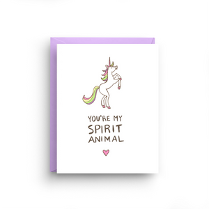 unicorn card, greeting card, unicorn birthday, funny unicorn card, funny love card, birthday card, card for friend, i love you card, spirit animal, unicorn, birthday, congrats card, Valentine's Day Card