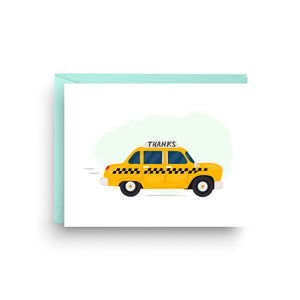 Taxi Thank You Card