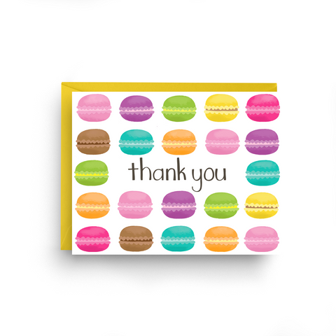 Macarons Thank You Card