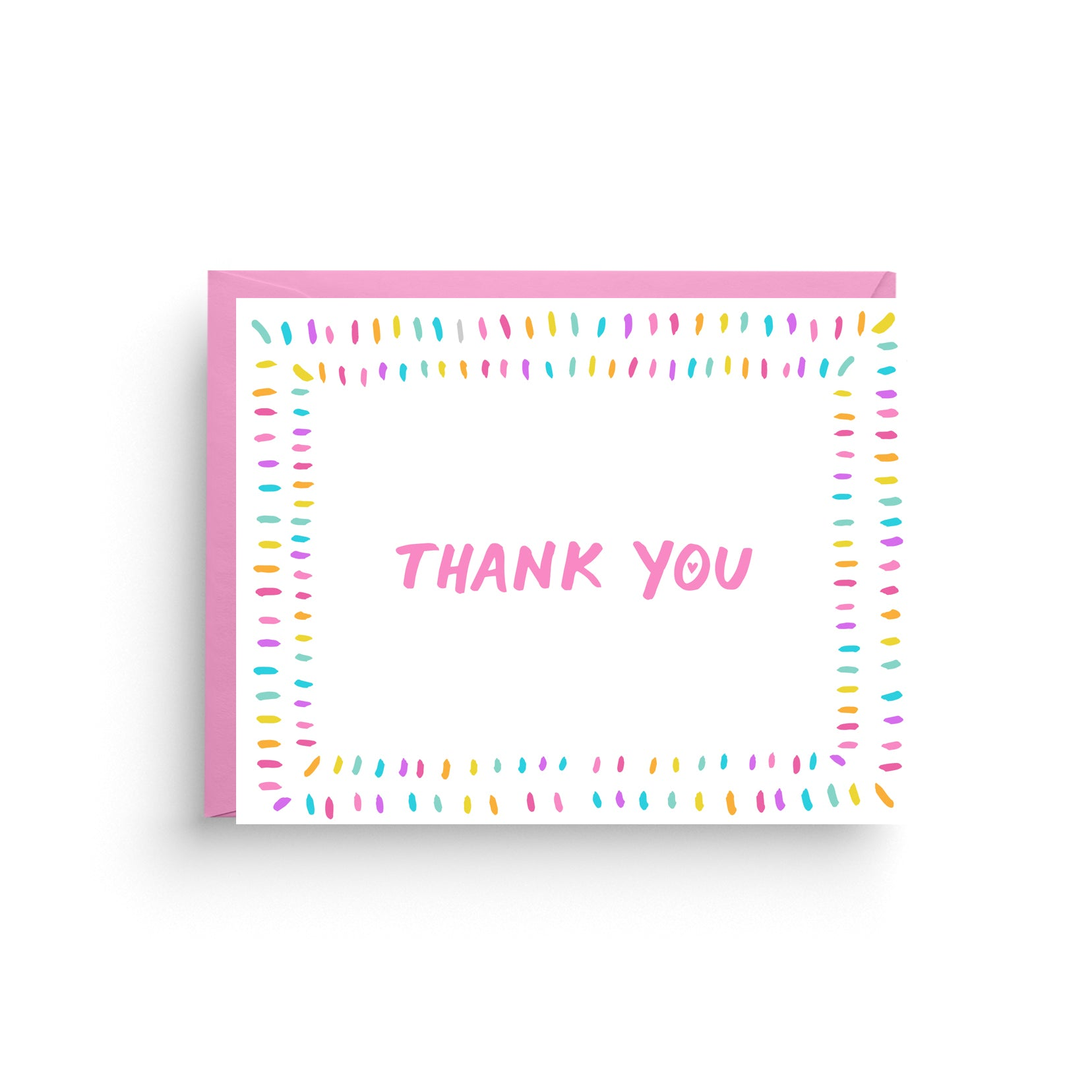 rainbow thank you, thank you card, rainbow note card, stationery card, birthday thank you, boxed set of cards, stationery boxed set, wedding thank you, shower thank you, baby shower card, bridal party card, pink thank you, boxed set of 6