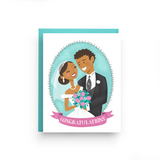 African American Wedding Couple Card