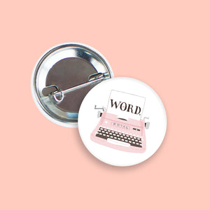 Vintage Typewriter Pin-Back Button