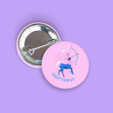 Sagittarius Pin-Back Zodiac Button