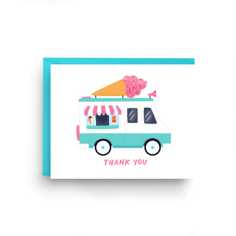 Ice Cream Truck Thank You Card