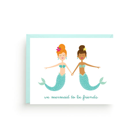 mermaid card, nautical stationery, little mermaid, under the sea, mermaid birthday, note card set, mermaid party ideas, mermaid party, under the sea party, little mermaid party, nautical note cards, mermaid art card, friendship card