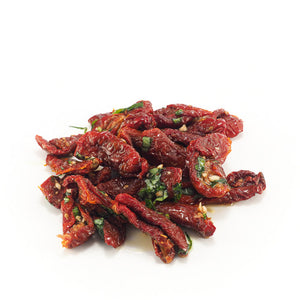 Sun Dried Tomatoes Marinated in Garlic, Basil & Extra Virgin Olive Oil