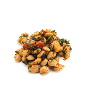 Butter Bean Salad with Tomato, Basil & Extra Virgin Olive Oil