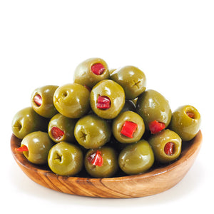 Large Green Olives Stuffed With Sweet Pepper