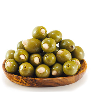 Large Green Olives Stuffed with Almonds