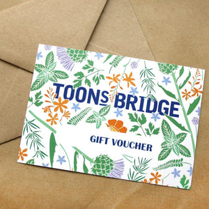 VOUCHERS TO USE ONLINE - CAN BE EMAILED TO A FRIEND - PHYSICAL VOUCHERS FOR OUR SHOPS & STALLS CAN BE POSTED TO A FRIEND