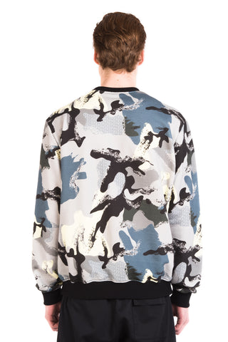 CAMO SWEATSHIRT / GREEN -30%