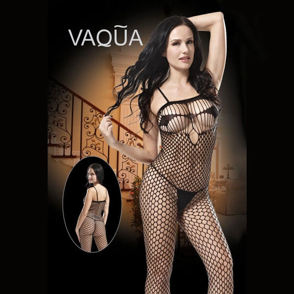 Enticing Ring Full Mesh Sexy Bodystocking Women's Lingerie Black