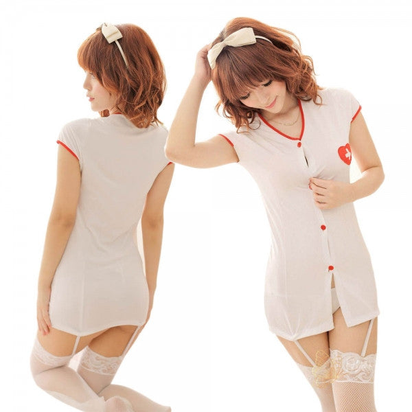 Sexy Cosplay Costume Nurse Uniform Party Wear Uniform White