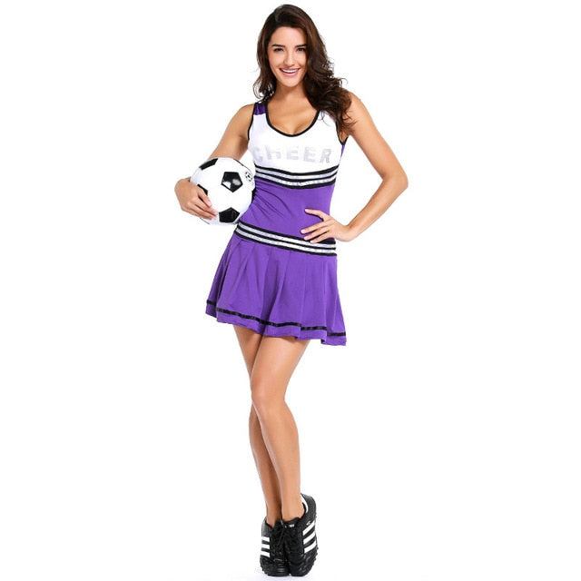 2018 Cheerleader Costumes Sexy Soccer Girls Cheerleading Uniform Cheer Football Baby Skirt Party Outfit Club Wear Sexy Costumes