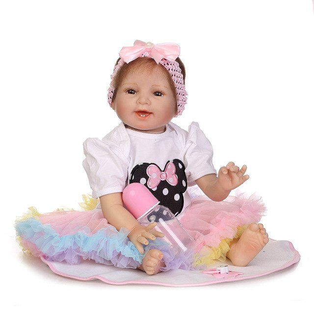 55CM Jointed Vinyl Reborn Doll Lifelike Girls House Play Baby Dolls Toy for Kids Playmate Gifts BM88