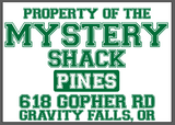 The Mystery Shack ( gravity falls ) crew neck sweatshirt
