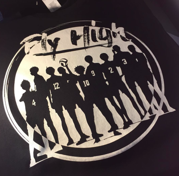 Fly High Haikyuu! Karasuno High School Crew Neck Sweatshirt (design contest winner)