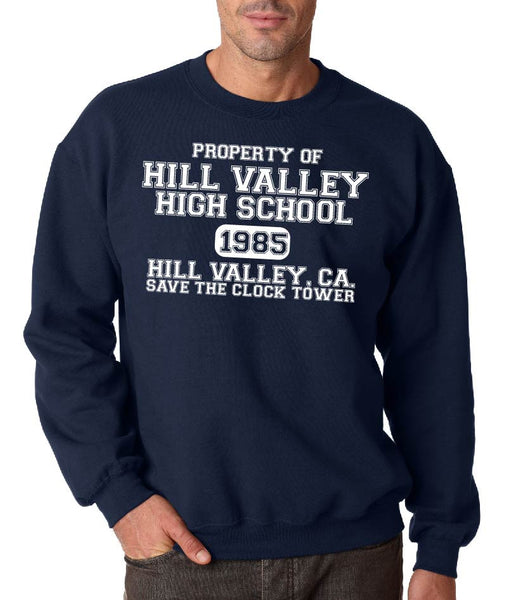 Hill Valley High School ( back to the future ) Crew Neck Sweatshirt