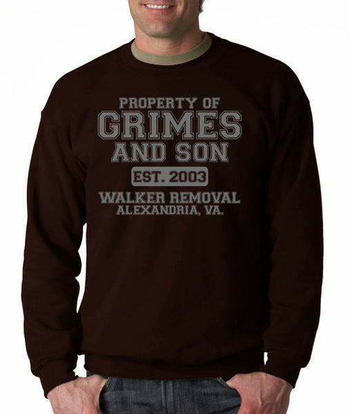 Grimes and Son ( The walking dead ) Crew Neck Sweatshirt