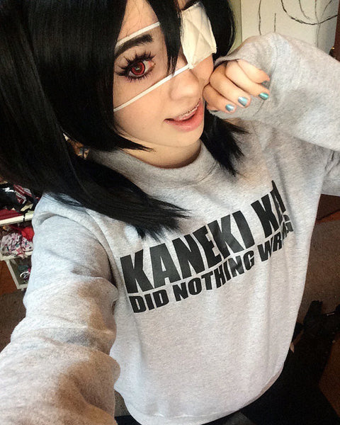 Kaneki Ken Did Nothing Wrong ( Tokyo Ghoul ) Crew Neck Sweatshirt