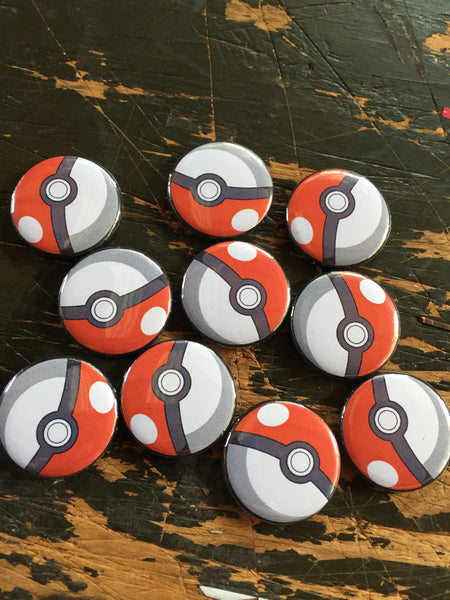 Pokemon inspired 1 inch buttons (pricing includes shipping)