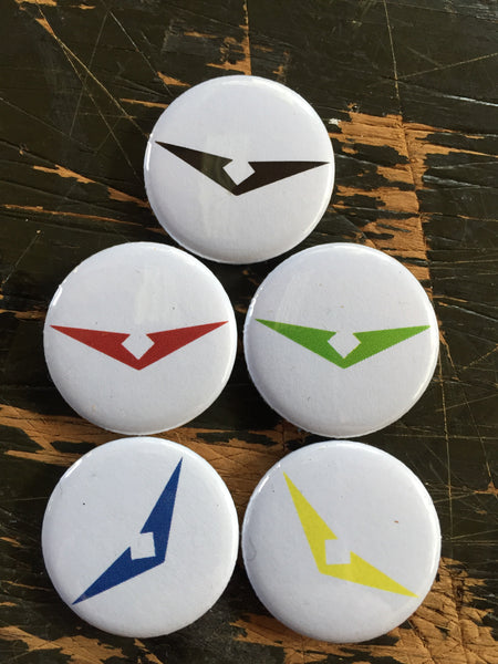 Voltron Legendary Defender inspired 1 inch buttons (pricing includes shipping)