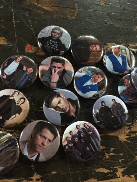 Supernatural inspired 1 inch buttons (pricing includes shipping)