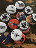 Scott Pilgrim inspired 1 inch buttons (pricing includes shipping)