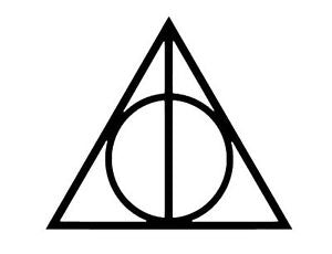 Harry Potter Deathly Hallows Logo Sticker