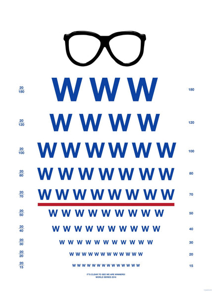 """It's Clear To See We Are Winners"" Cubs Worldseries Poster - Harry Carey Glasses"