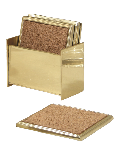 Gold Cork Square Coasters