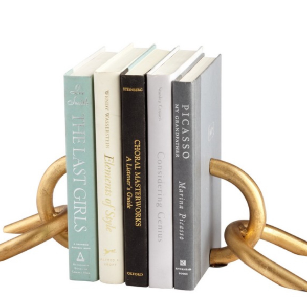 Gold Chain Link Bookends