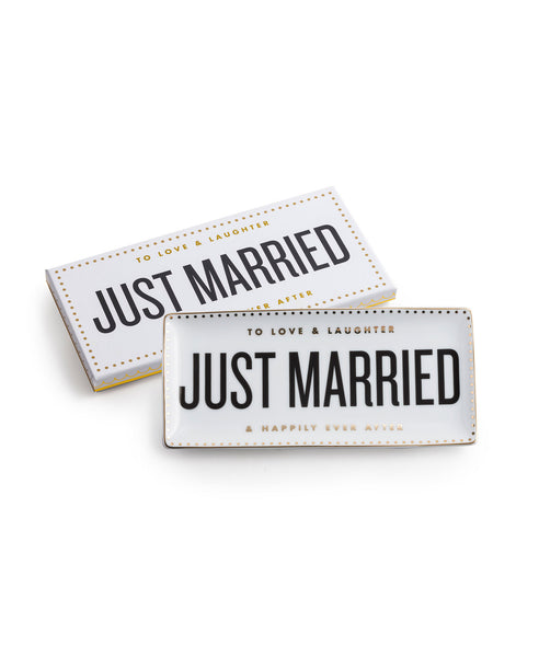 Just Married Trinket Tray