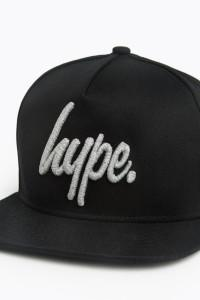 HYPE Black/Grey Reflective Script Snapback Hat-Snapback Hat-HYPE.-Weightless.no