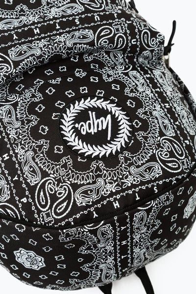 HYPE Black/White Bandana Backpack-Backpack-HYPE.-Weightless.no