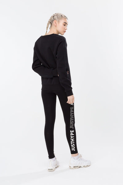 HYPE Black/White Justhype Women's Crewneck-Crewneck-HYPE.-Weightless.no