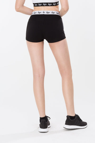 HYPE Black/White Mono Running Women's Shorts-Shorts-HYPE.-Weightless.no