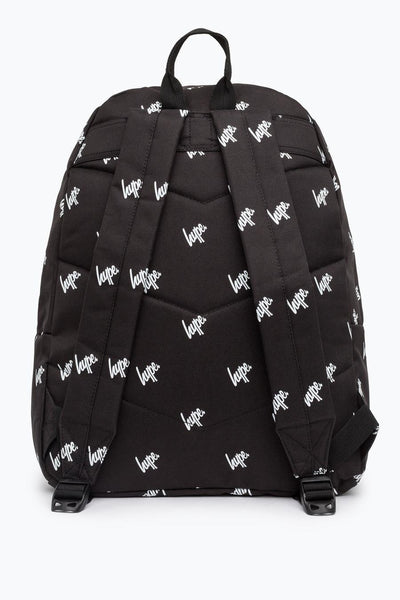 HYPE Black/White Script Repeat Backpack-Backpack-HYPE.-Weightless.no