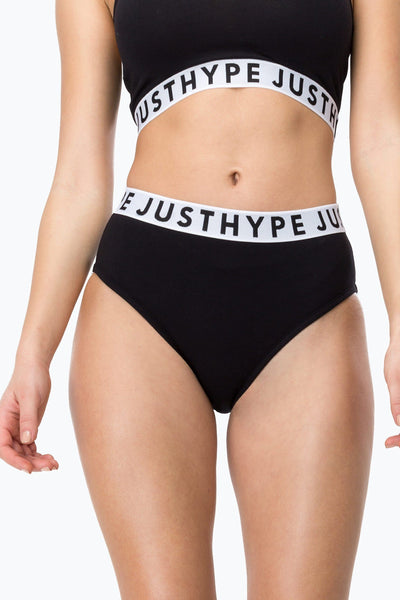 HYPE Black/White Taping Women's Pants-Truse-HYPE.-Weightless.no