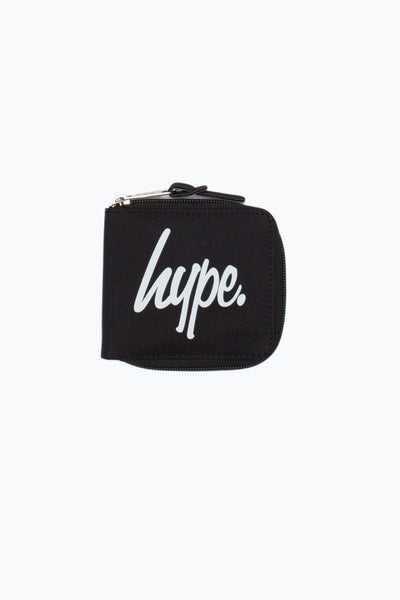 HYPE Bts17 Black/White Script Zip Wallet-Zip Wallet-HYPE.-Weightless.no
